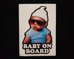 Наклейка на автомобиль Baby on board, цветная (h=120 мм, l=85 мм)