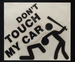 Наклейка на автомобиль Don't touch my car, черная (h=125 мм, l=135 мм)
