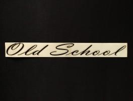 Наклейка на автомобиль Old School, черная (h=38 мм, l=325 мм)