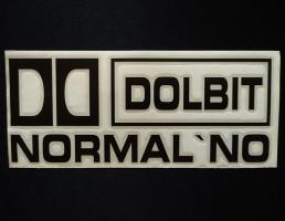 Украина Наклейка на автомобиль Долбит нормально, черная (h=85 мм, l=200 мм)