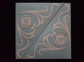 Наклейки на боковые стекла (уголки) - Fiat, белые (h=285 мм, l=330 мм)