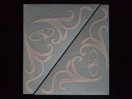 Наклейки на боковые стекла (уголки) - ВАЗ, белые (h=285 мм, l=330 мм)