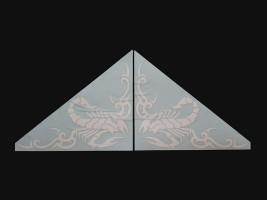 Наклейки на боковые стекла (уголки) - Скорпион, белые (h=285 мм, l=330 мм)