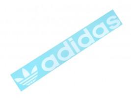 Украина Наклейка на автомобиль (заднее стекло) Adidas с эмблемой, белая (h=110 мм, l=700 мм)