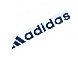 Наклейка на автомобиль (заднее стекло) Adidas с эмблемой, черная (h=110 мм, l=700 мм)