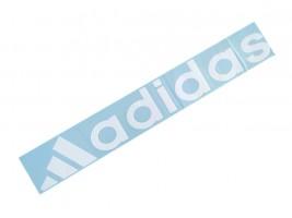 Наклейка на автомобиль (заднее стекло) Adidas, белая (h=105 мм, l=700 мм)