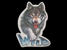 Наклейка на автомобиль Звери - Волк Wild, цветная (h=200 мм, l=145 мм) Украина