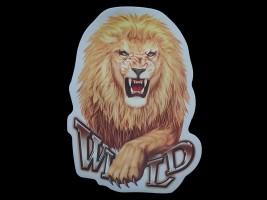 Наклейка на автомобиль Звери - Лев Wild, цветная (h=325 мм, l=240 мм)
