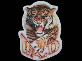 Наклейка на автомобиль Звери - Тигр Wild, цветная (h=195 мм, l=145 мм)