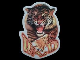 Наклейка на автомобиль Звери - Тигр Wild, цветная (h=240 мм, l=330 мм)