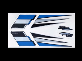 Наклейка на автомобиль Комета синяя острая (h=175 мм, l=365 мм)