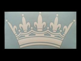 Наклейка на автомобиль Корона, белая (h=105 мм, l=205 мм)