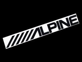 Наклейка на автомобиль (заднее стекло) Alpine, черная (h=100 мм, l=700 мм)
