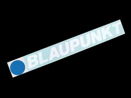 Наклейка на автомобиль (заднее стекло) Blaupunkt, белая (h=90 мм, l=700 мм)