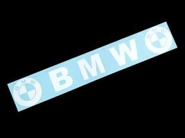Наклейка на автомобиль (заднее стекло) BMW, белая (h=125 мм, l=700 мм)