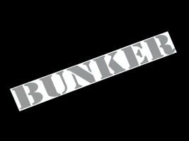 Наклейка на автомобиль (заднее стекло) Bunker, серая (h=110 мм, l=700 мм)