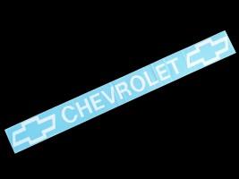 Наклейка на автомобиль (заднее стекло) Chevrolet, белая (h=75 мм, l=700 мм)