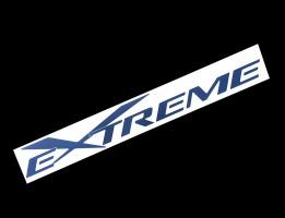 Наклейка на автомобиль (заднее стекло) Extreme, черная (h=100 мм, l=700 мм)