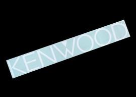 Наклейка на автомобиль (заднее стекло) Kenwood, белая (h=110 мм, l=700 мм)