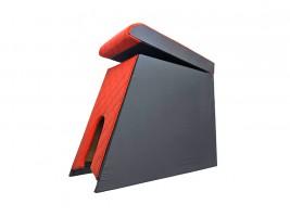 Подлокотник для ВАЗ 2105, 2107 (шире чем 2101) (красный, ромб)