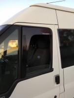Дефлекторы окон Ford Transit V 2000-2005, VI 2006-2013 (на скотче) (Г-образный) AV-Tuning