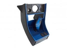 Консоль под магнитолу ВАЗ 2107 (синяя) Autoelement