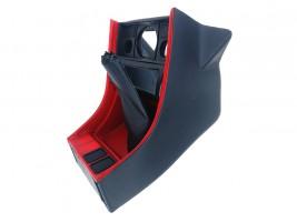 Консоль под магнитолу ВАЗ 2107 (красная) Autoelement