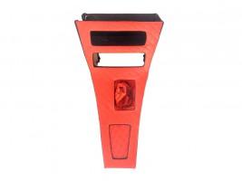 Консоль под магнитолу ВАЗ 2101, 2102 ромб (красная) Autoelement