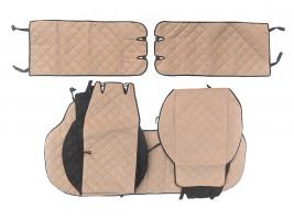 Auto Fortuna Чехлы автомобильные майки универсальные LUX (ромб) комплект