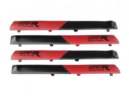 """Autoelement Накладки дверные """"батоны"""" ВАЗ 2101, 2102, 2103, 2104, 2105, 2106, 2107 (красно-черные)"""