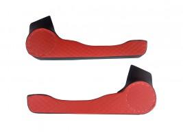 Карманы дверные ВАЗ 2108, 2109, 21099 D16 ромб (красно-черные) Autoelement