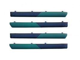 """Autoelement Накладки дверные """"батоны"""" ВАЗ 2101, 2102, 2103, 2104, 2105, 2106, 2107 (зелено-черные)"""
