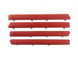 """Autoelement Накладки дверные """"батоны"""" ВАЗ 2101, 2102, 2103, 2104, 2105, 2106, 2107 ромб (красные)"""