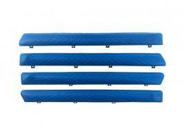 """Autoelement Накладки дверные """"батоны"""" ВАЗ 2101, 2102, 2103, 2104, 2105, 2106, 2107 ромб (синие)"""