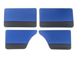 """Карты дверей ВАЗ 2101, 2102, 2103, 2104, 2105, 2106, 2107 """"ромб"""" (синие)"""