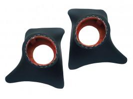Накладки уголки передние с подиумами на 16 см ВАЗ 2101, 2102, 2103, 2104, 2105, 2106, 2107 (черные) Autoelement