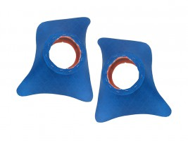 Накладки уголки передние с подиумами на 13 см ВАЗ 2101, 2102, 2103, 2104, 2105, 2106, 2107 ромб (синие)