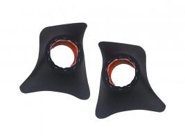 Накладки уголки передние с подиумами на 13 см ВАЗ 2101, 2102, 2103, 2104, 2105, 2106, 2107 ромб (черные)