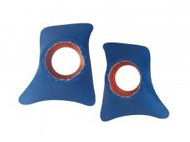 Накладки уголки передние с подиумами на 16 см ВАЗ 2101, 2102, 2103, 2104, 2105, 2106, 2107 ромб (синие)