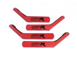 Ручки-подлокотники ВАЗ 2101, 2102, 2103, 2104, 2105, 2106, 2107 (красно-черные), комплект 4 шт. Autoelement