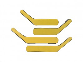 Ручки-подлокотники ВАЗ 2101, 2102, 2103, 2104, 2105, 2106, 2107 (желтые), комплект 4 шт. Autoelement