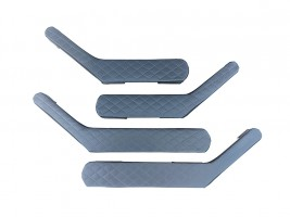 Ручки-подлокотники ВАЗ 2101, 2102, 2103, 2104, 2105, 2106, 2107 ромб (серые), комплект 4 шт. Autoelement