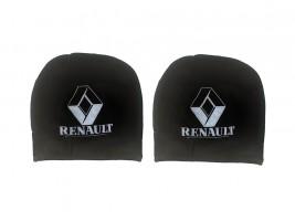 Чехол подголовника с логотипом Renault черный (2 шт.) Украина