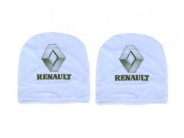 Чехол подголовника с логотипом Renault белый (2 шт.) Украина