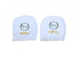 Чехол подголовника с логотипом Opel белый (2 шт.) Украина