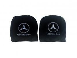 Чехол подголовника с логотипом Mercedes черный (2 шт.) Украина