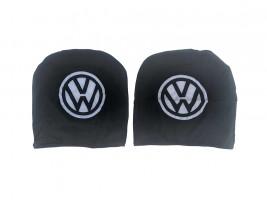 Чехол подголовника с логотипом Volkswagen черный (2 шт.) Украина