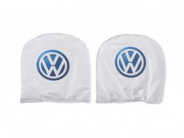 Чехол подголовника с логотипом Volkswagen белый (2 шт.) Украина