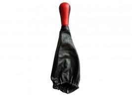 Ручка с чехлом КПП ВАЗ 2101, 2102, 2103, 2104, 2105, 2106, 2107 натуральная кожа (красная)
