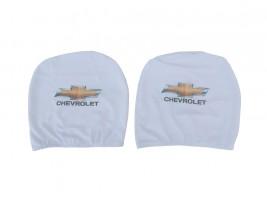 Чехол подголовника с логотипом Chevrolet белый (2 шт.) Украина
